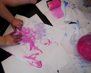 Peinture au doigt rouleau