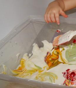 Crème fraiche colorée 3