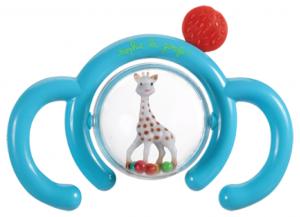 Sophie la girafe hochet bleu