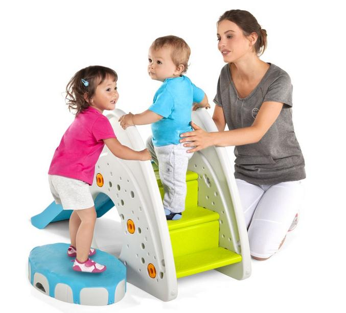 sport avec bébé trampoline