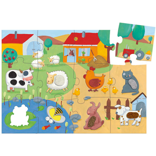 Puzzle tactile de Djeco