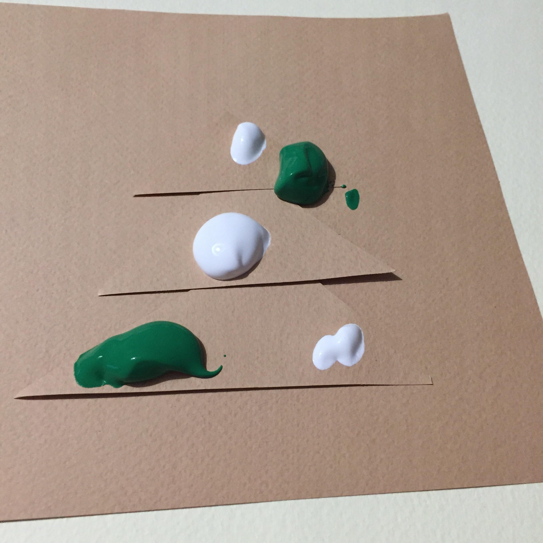 Peinture dans un sac sapin sans tache