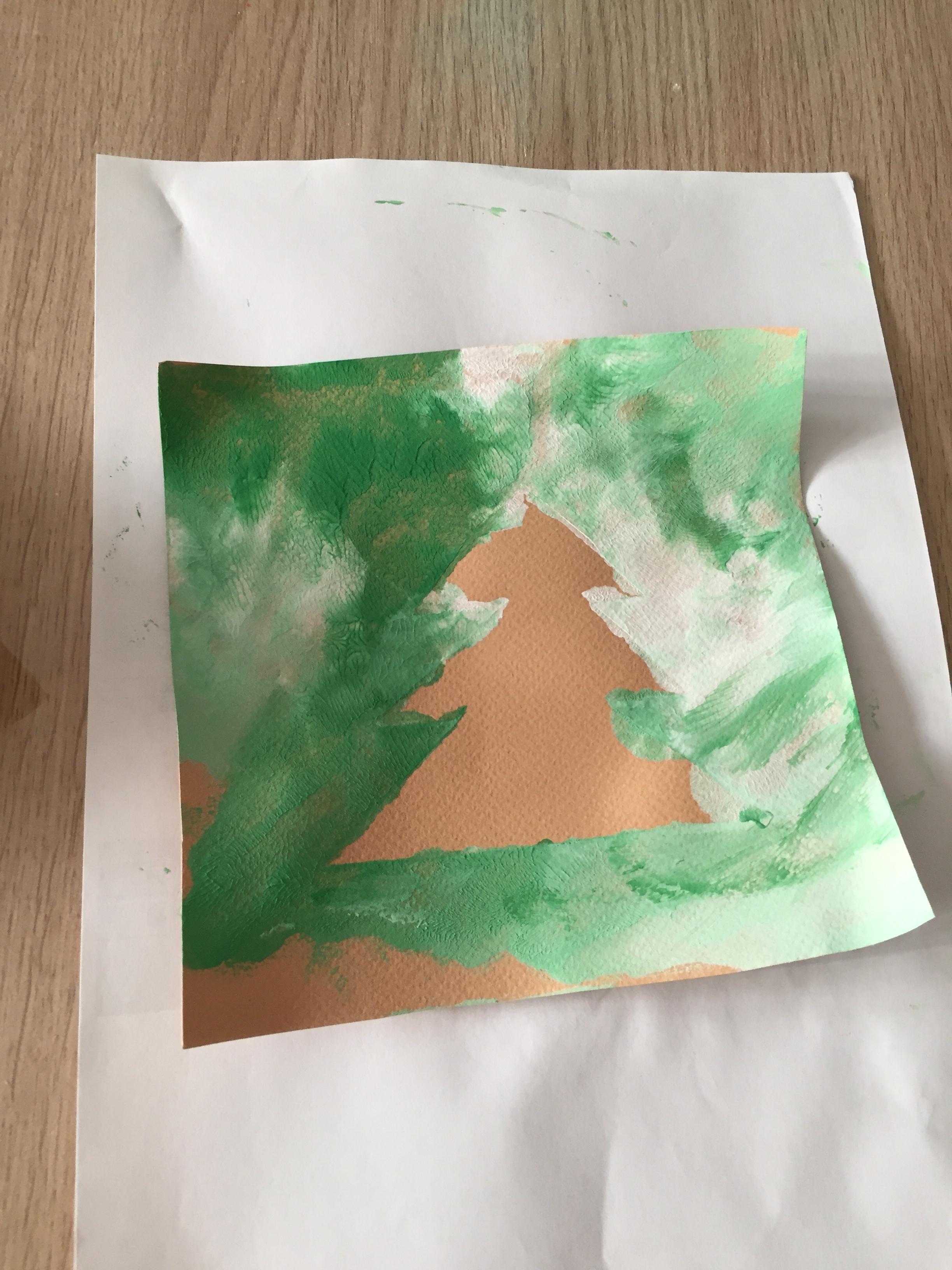 Peinture dans un sac sapin