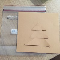 Peinture dans un sac noel