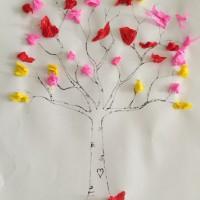 arbre au printemps papier