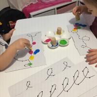 Guirlande en peinture