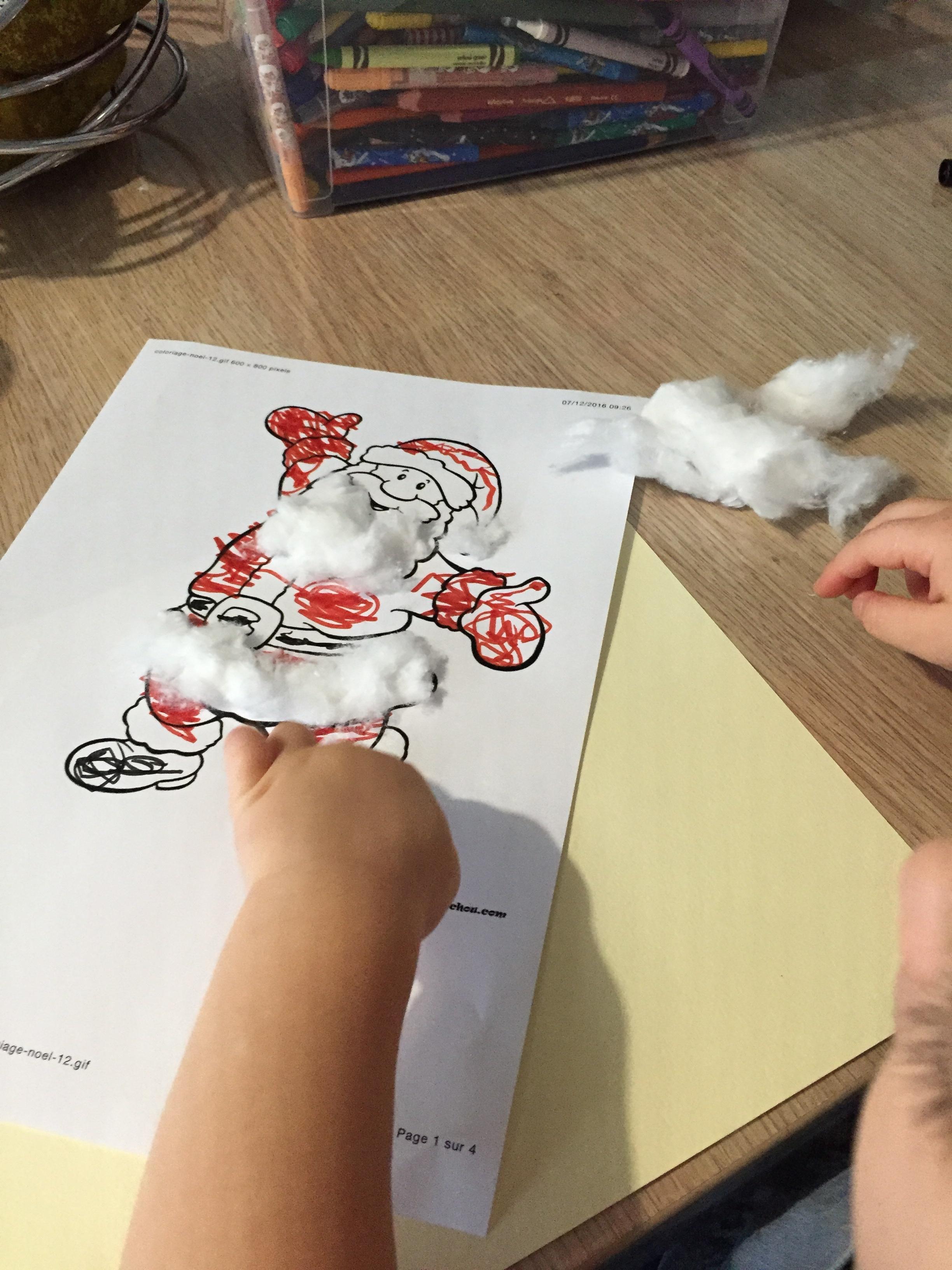 Père Noël en coton