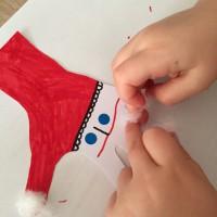 Père Noël main en coton