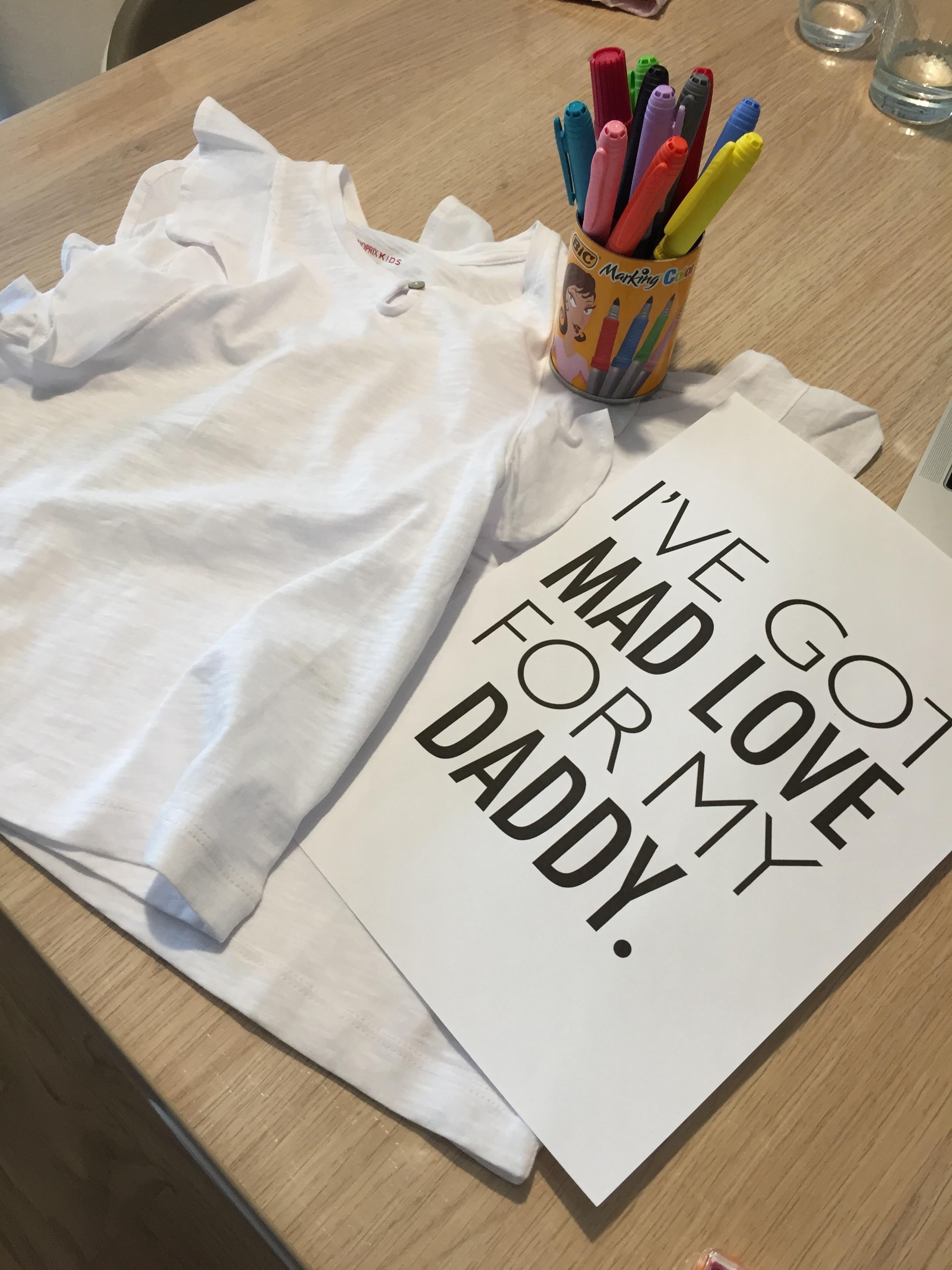 Cadeau fête des pères t-shirts