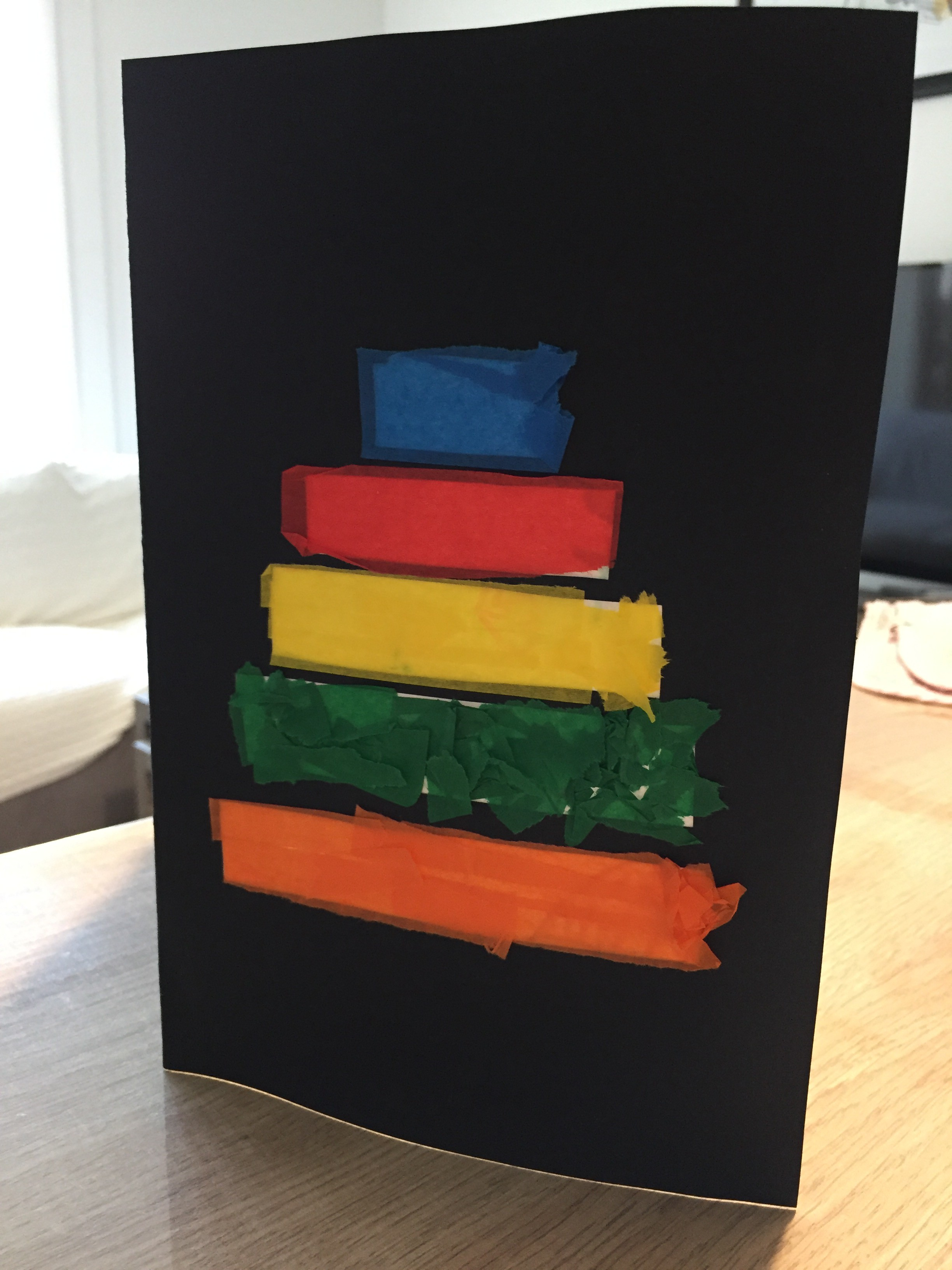 carte d'anniversaire diy gâteau