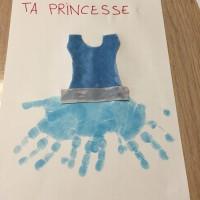Cadeau fête des pères princesse empreintes