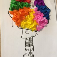 parapluie couleurs collage montessori