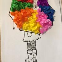 parapluie couleurs collage montessori