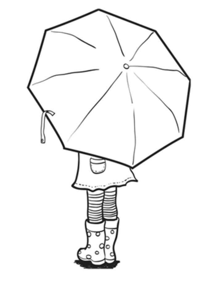 parapluie couleurs modèle