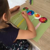 Ballons en coton avec peinture