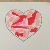 carte coeur fête déchirage