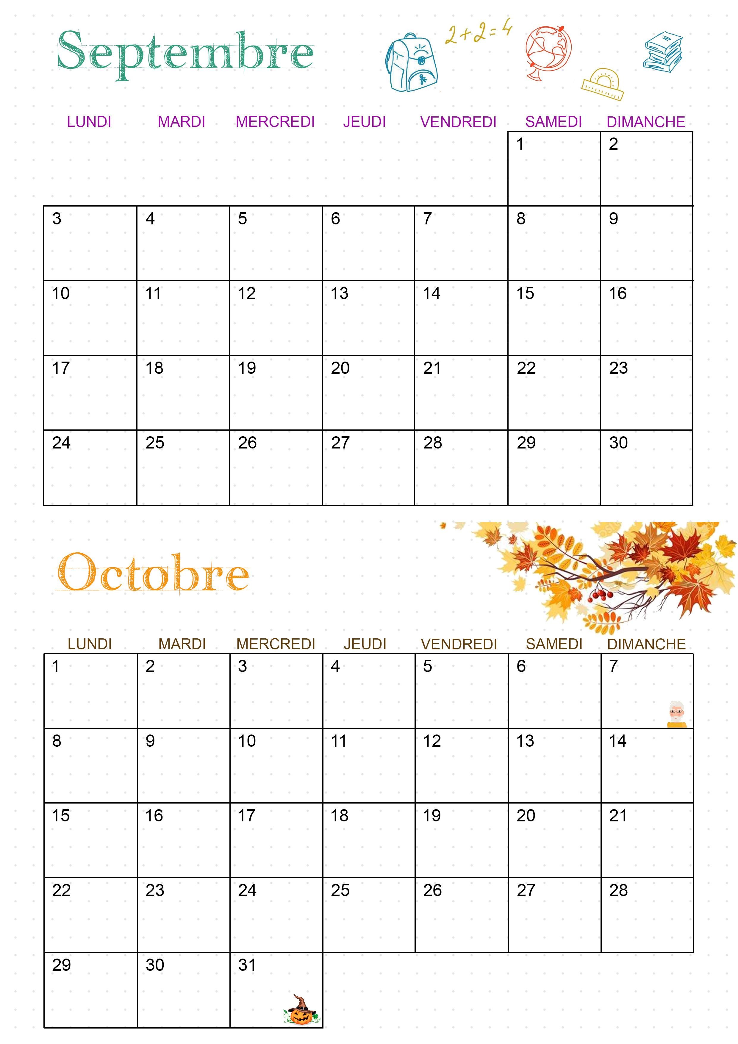 Calendrier 2018 septembre octobre ief