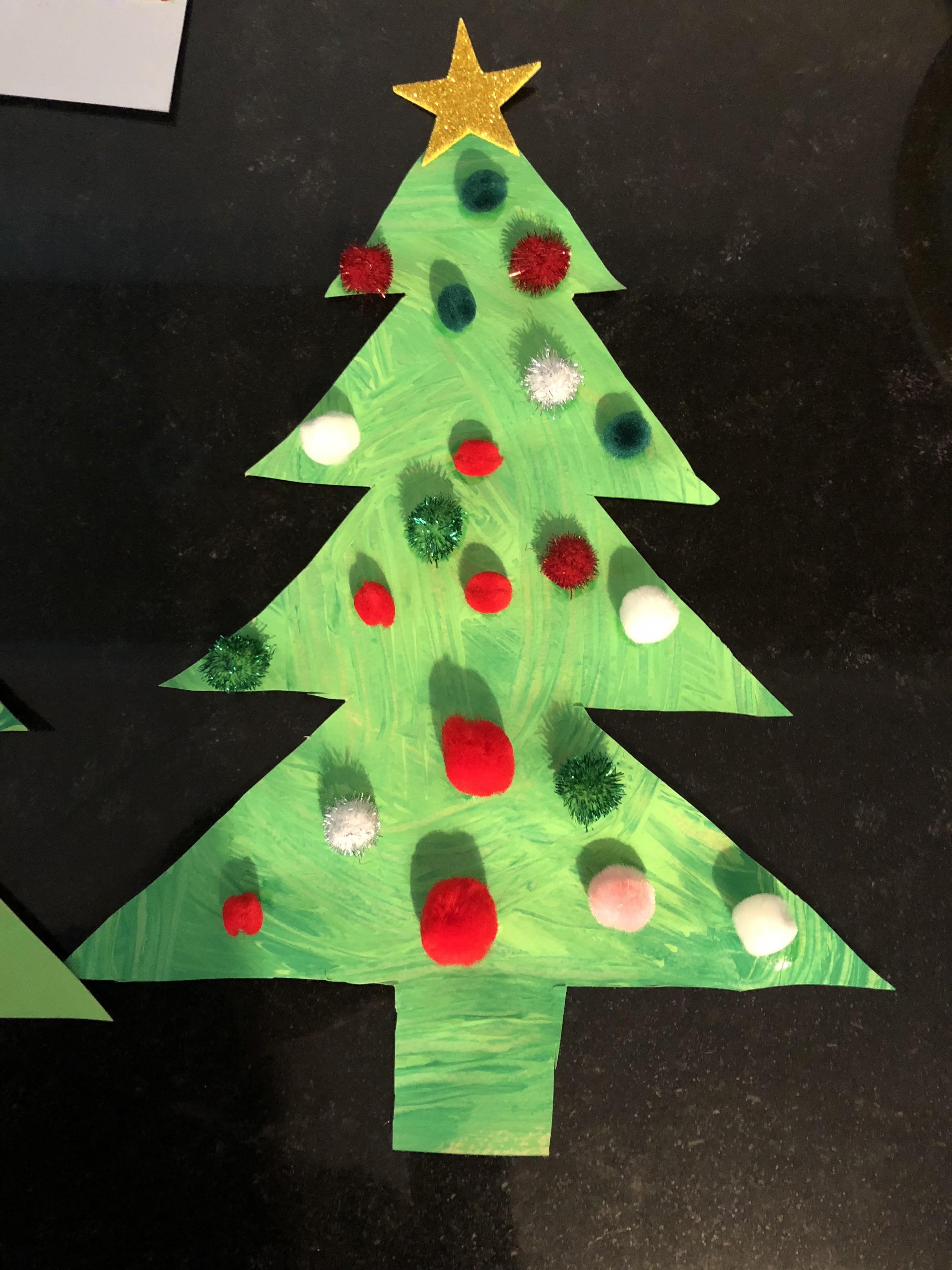 Peinture de Noel sapin