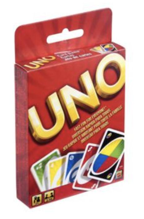 Uno jeu de cartes enfant