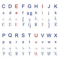 alphabet ief écriture cursif majuscule