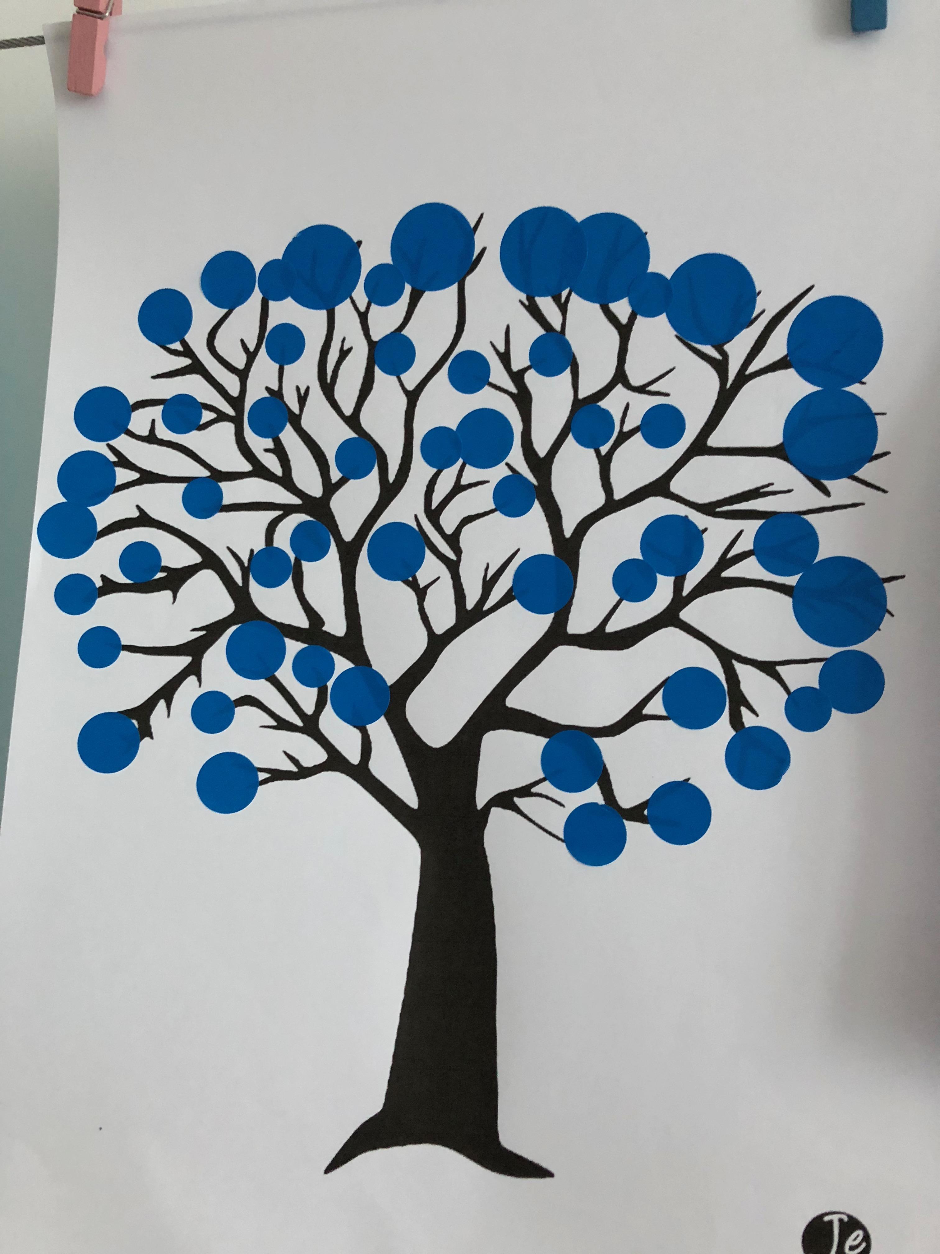 activités sur l'hiver arbre