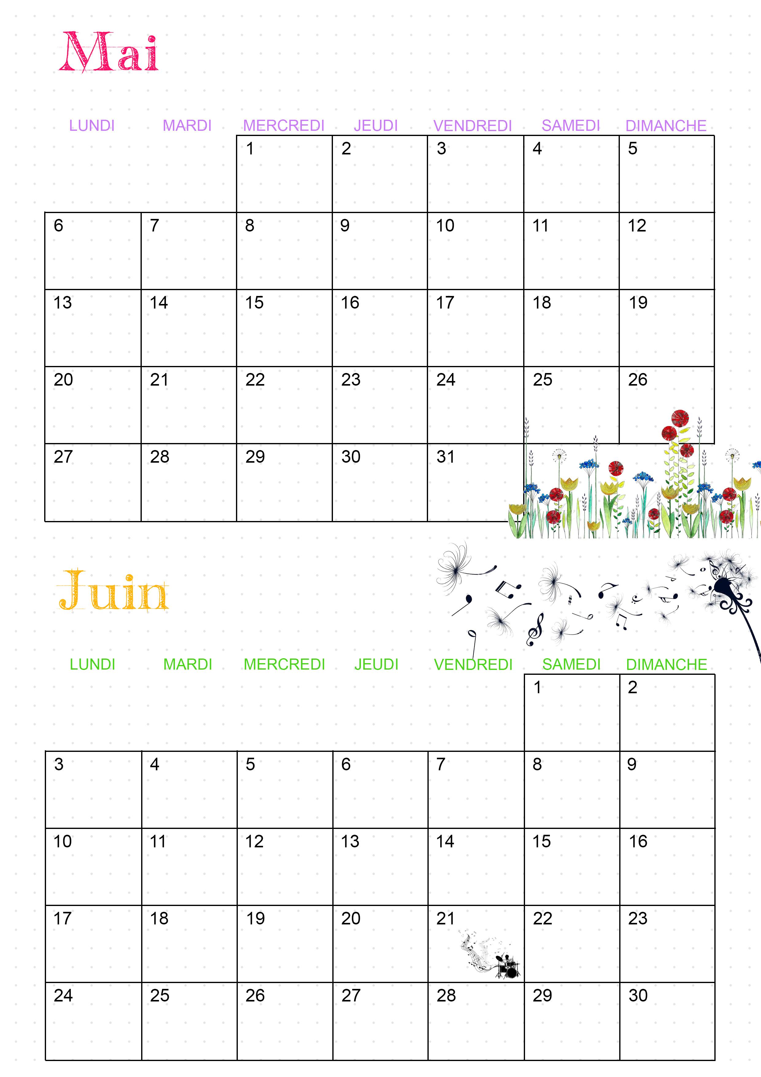 Mai Calendrier 2019.Calendrier 2019 Les Activites De Maman