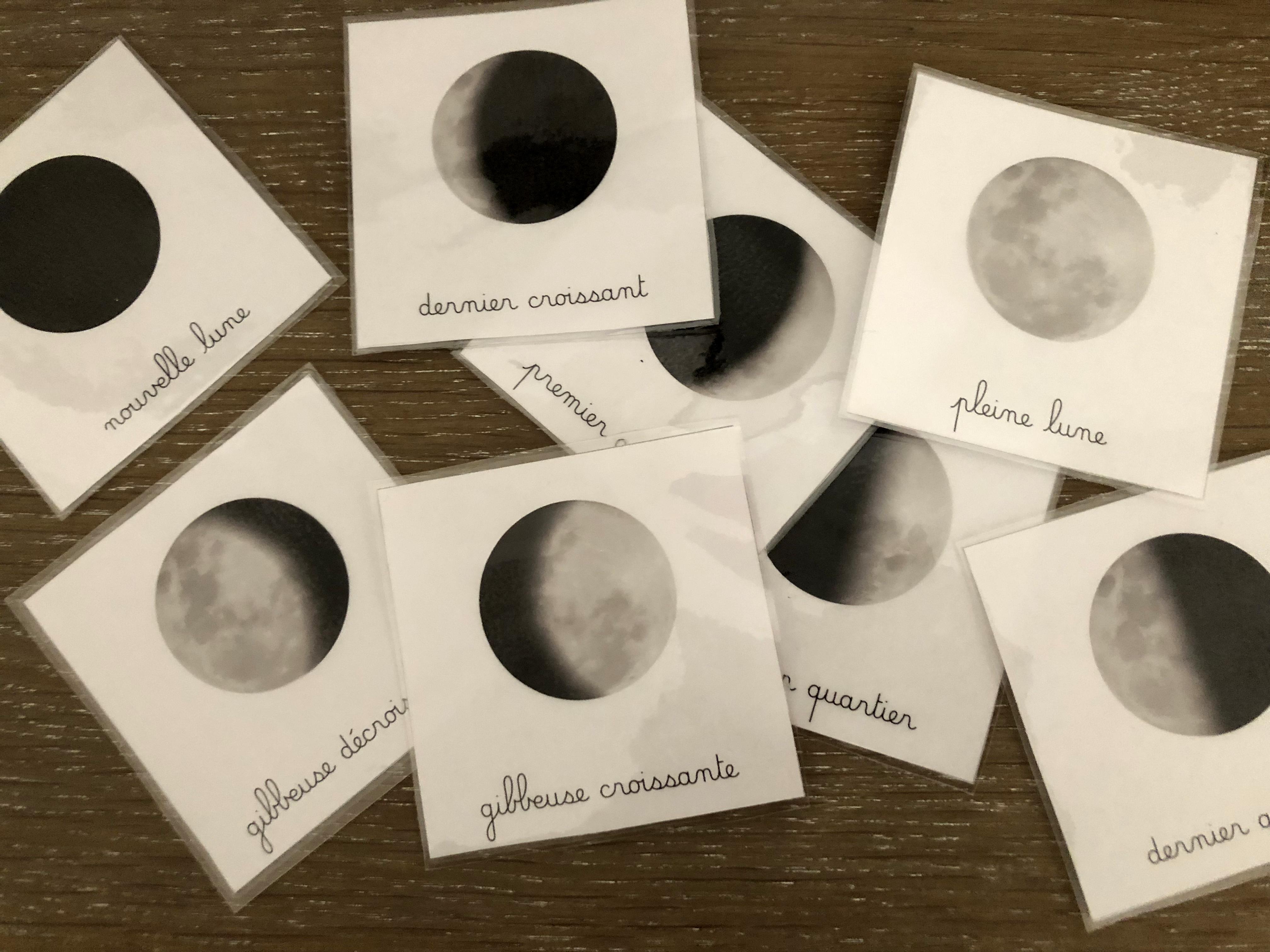 carte de nomenclature la lune