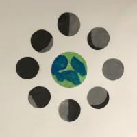 la lune, la terre, le soleil projet ief