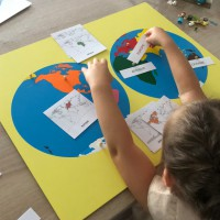 Les continents puzzle montessori instruction en famille