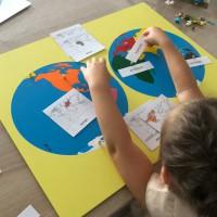 Les continents puzzle montessori instruction en famille