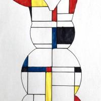 Mondrian enfant art