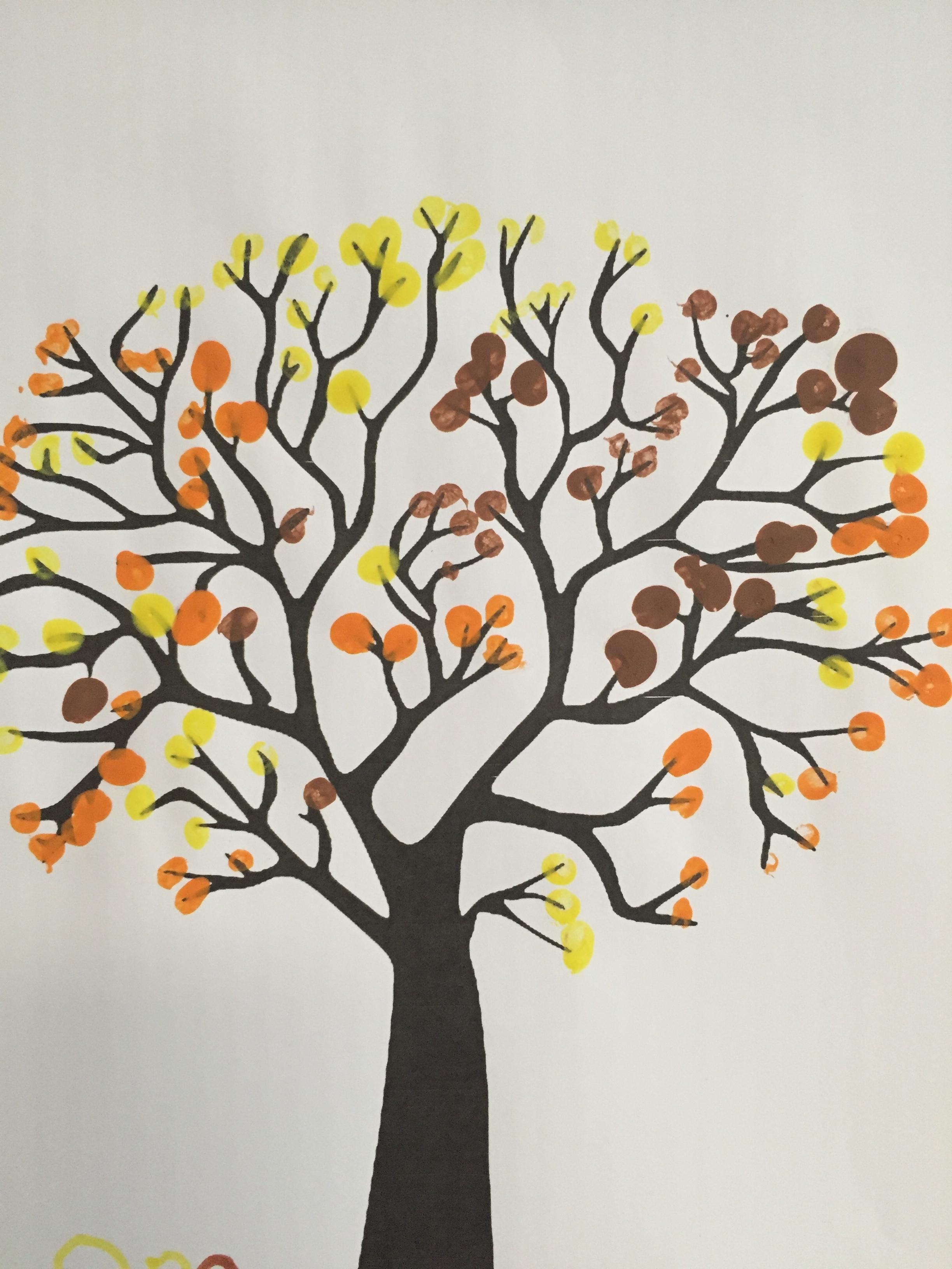 peinture arbre automne