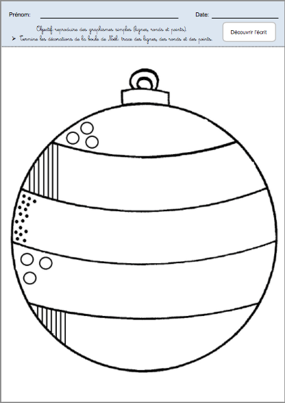 Dessin Boule De Noel.Boule De Noël Les Activités De Maman