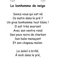 poésie de décembre enfant ief école