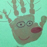 Décoration avec les mains empreintes