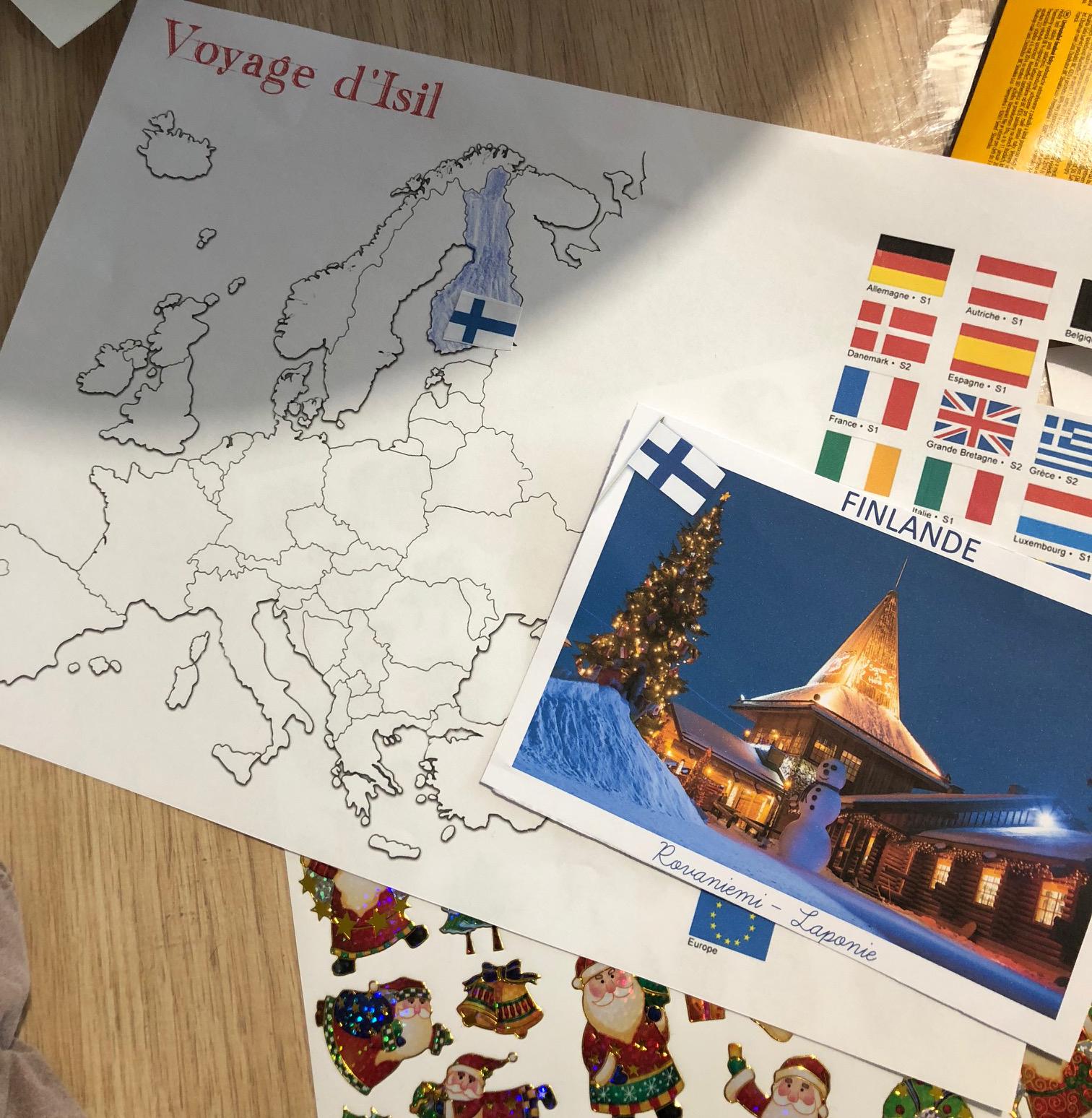 Le voyage du lutin carte Europe