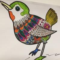Oiseau du printemps coloriage