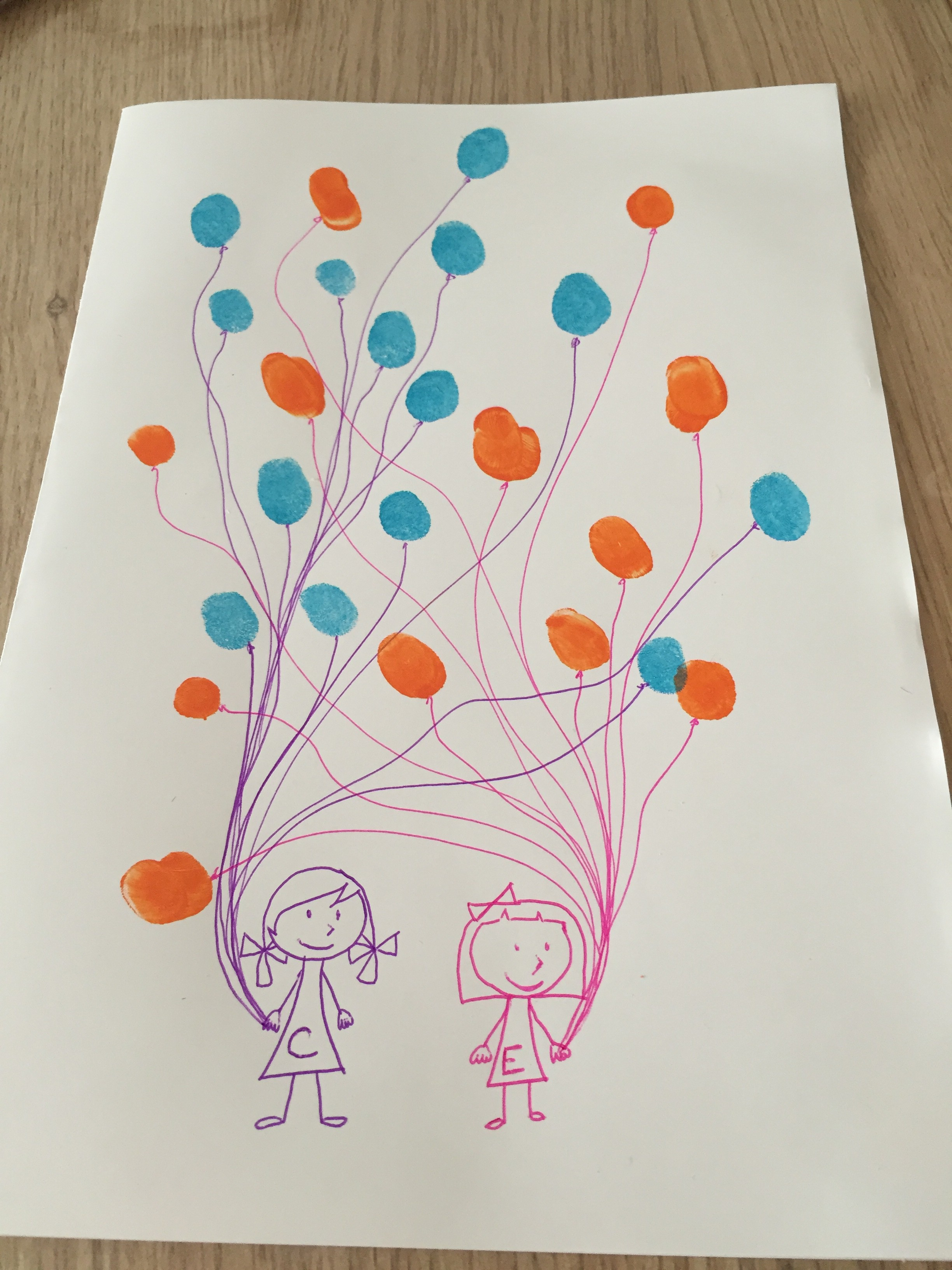 [DIY] Ballons avec les empreintes