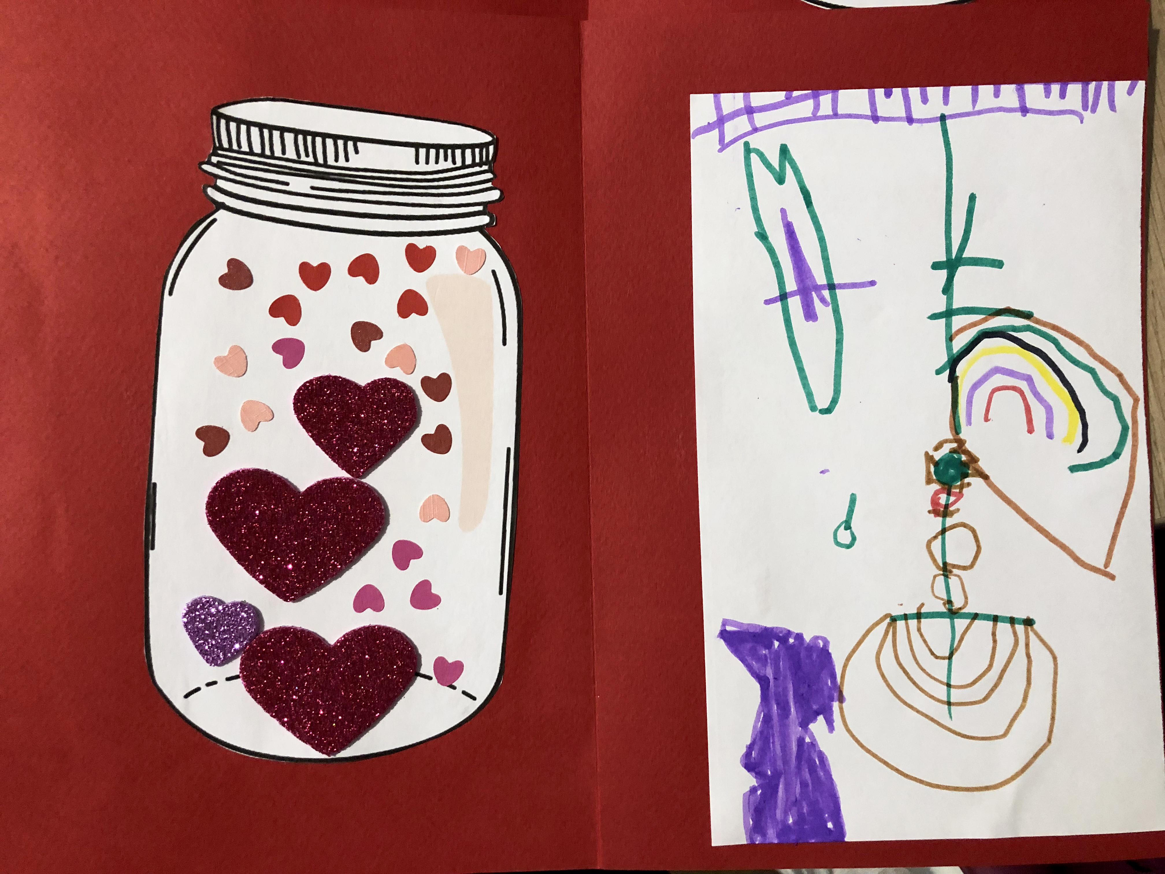 saint-valentin carte diy amour coeur