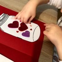 saint-valentin carte diy enfant