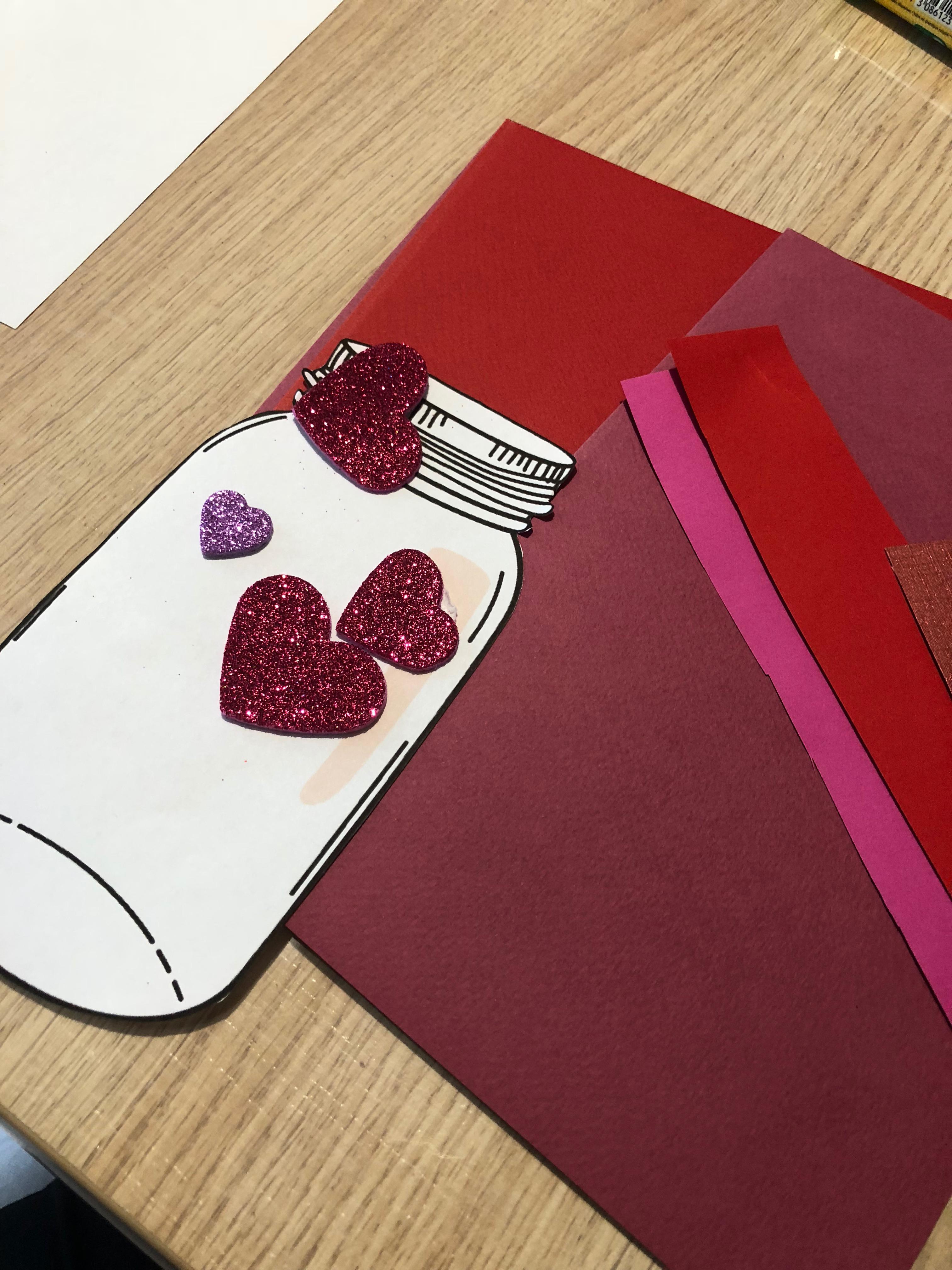 saint-valentin carte diy
