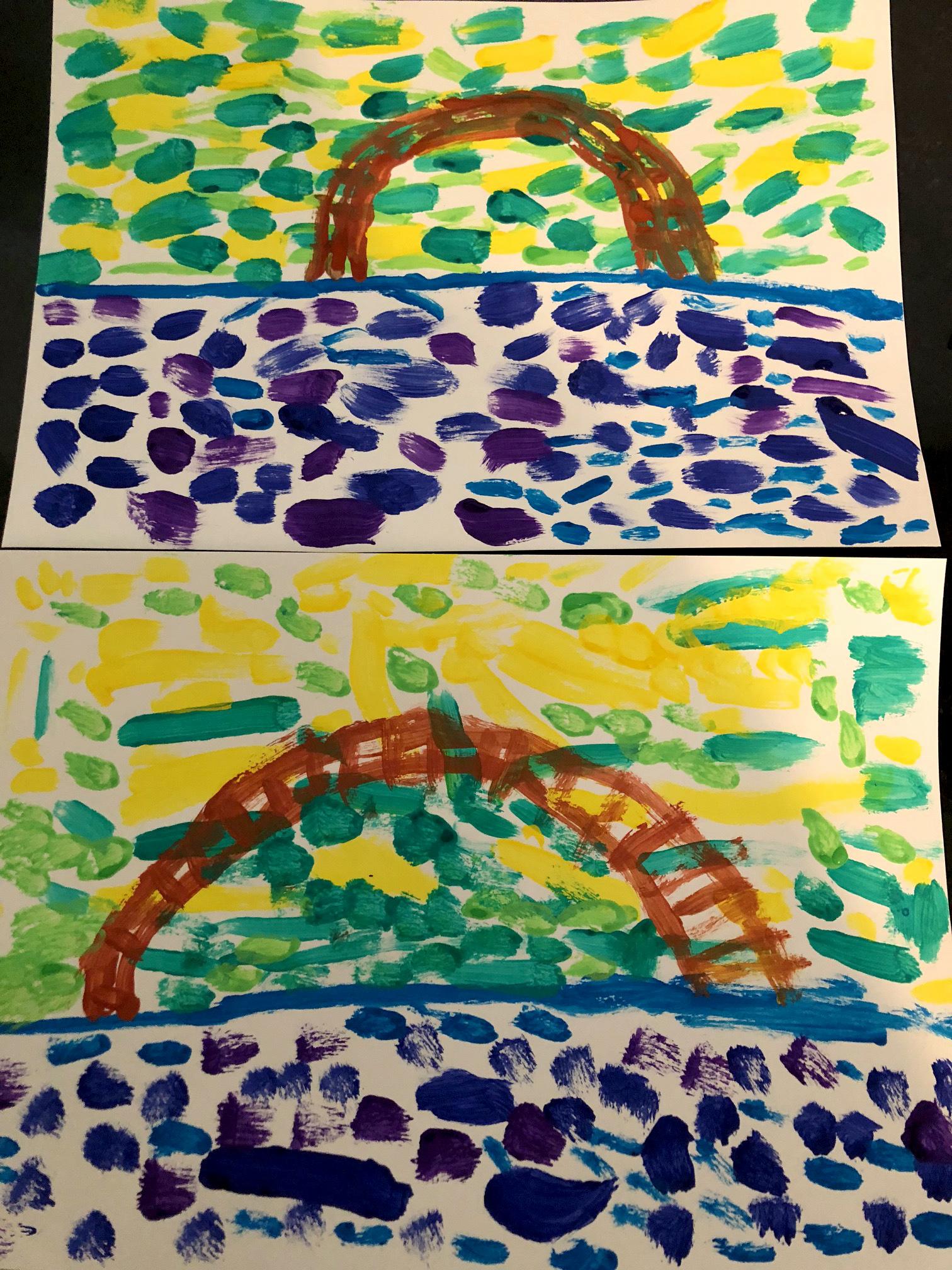 Claude Monet nymphéas création enfant