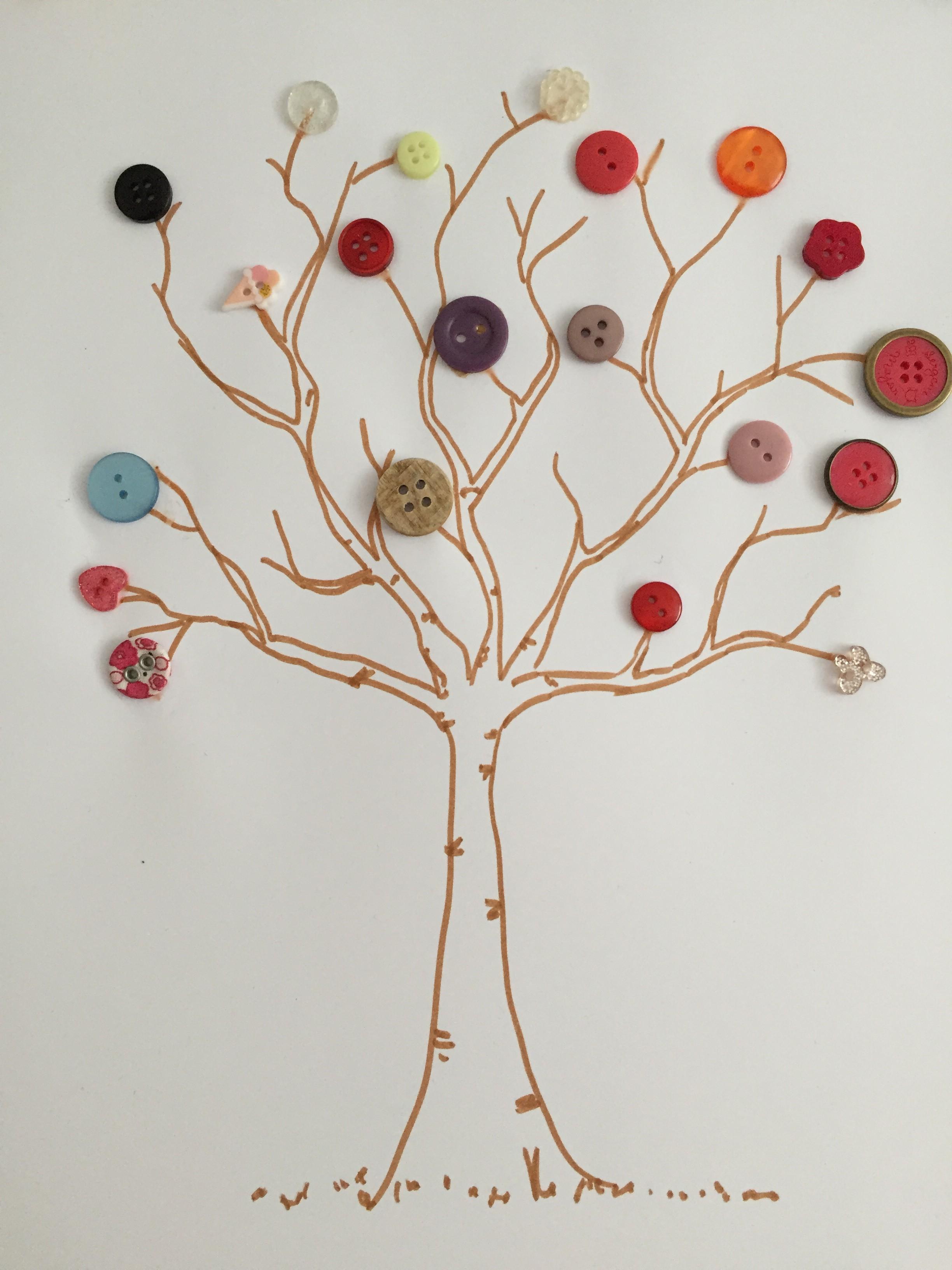 arbre printemps boutons
