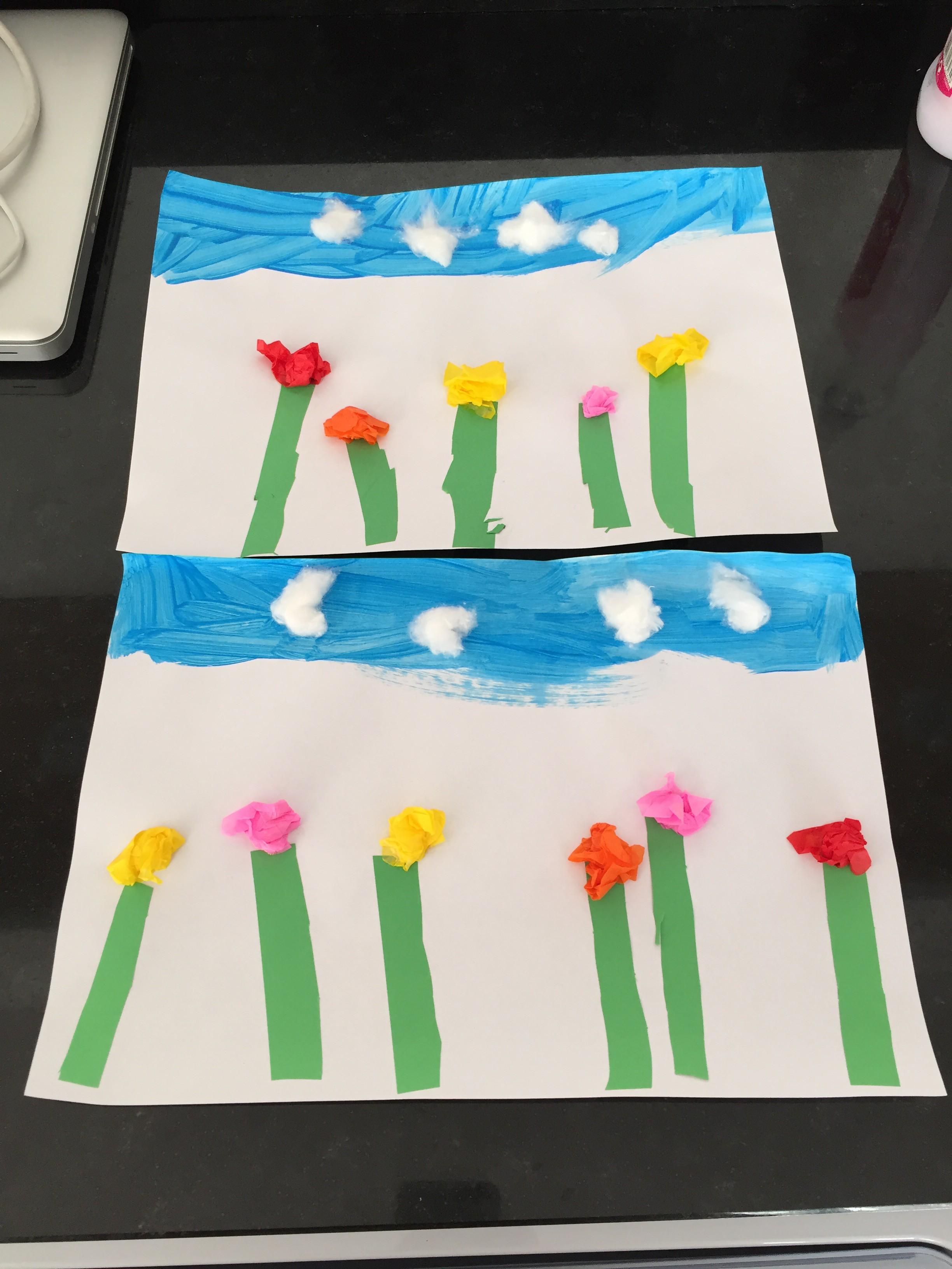 tableau de fleurs montessori