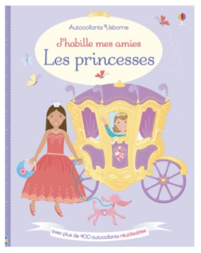 livre gommettes princesse cadeau fille 4 ans
