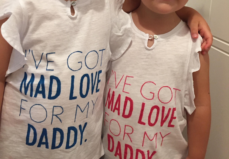 Cadeau fête des pères t shirt diy