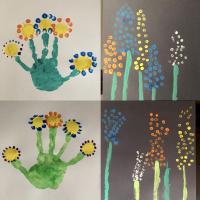 des fleurs en peinture activité enfant printemps