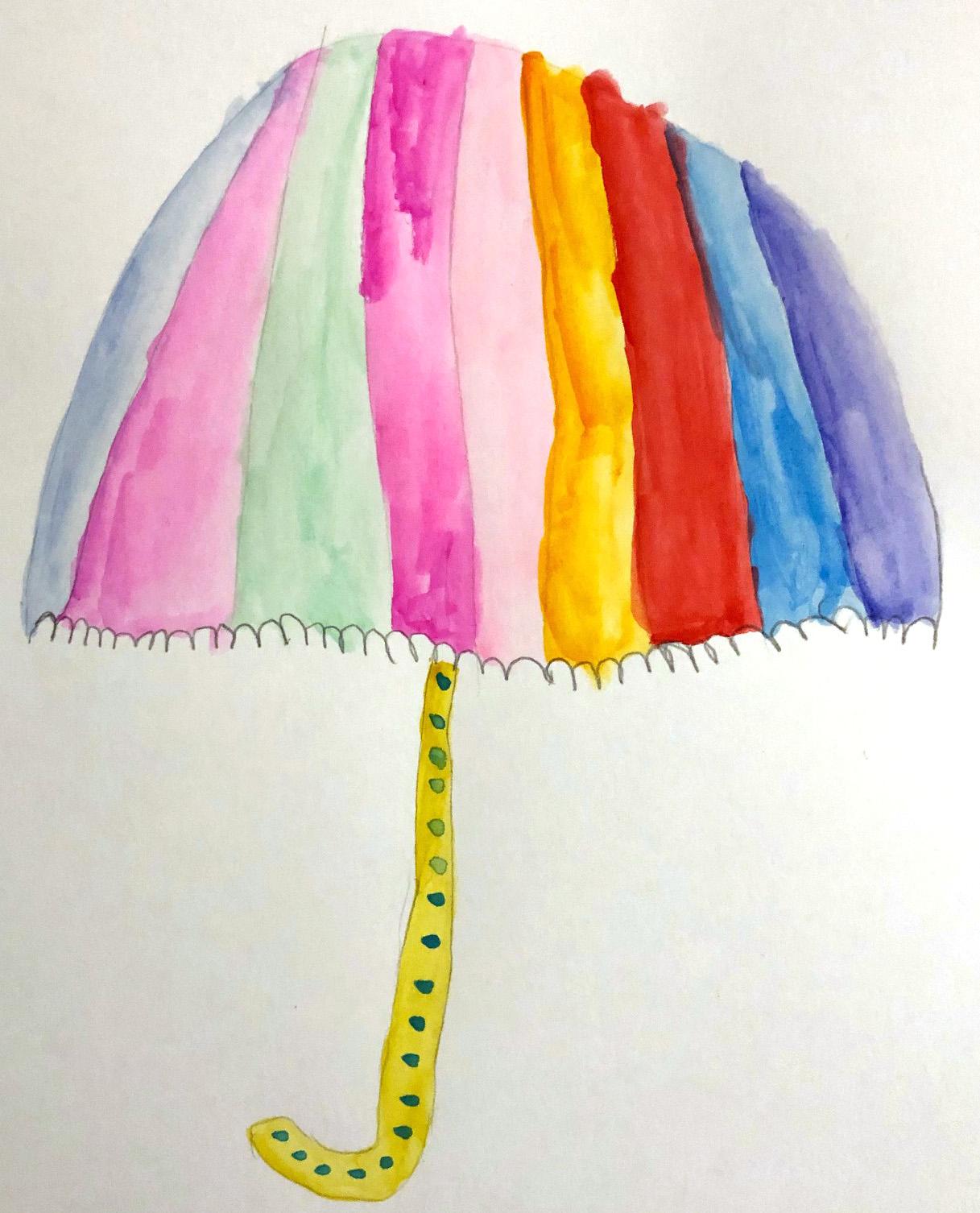 un parapluie peinture activité enfant