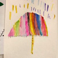 un parapluie peinture automne