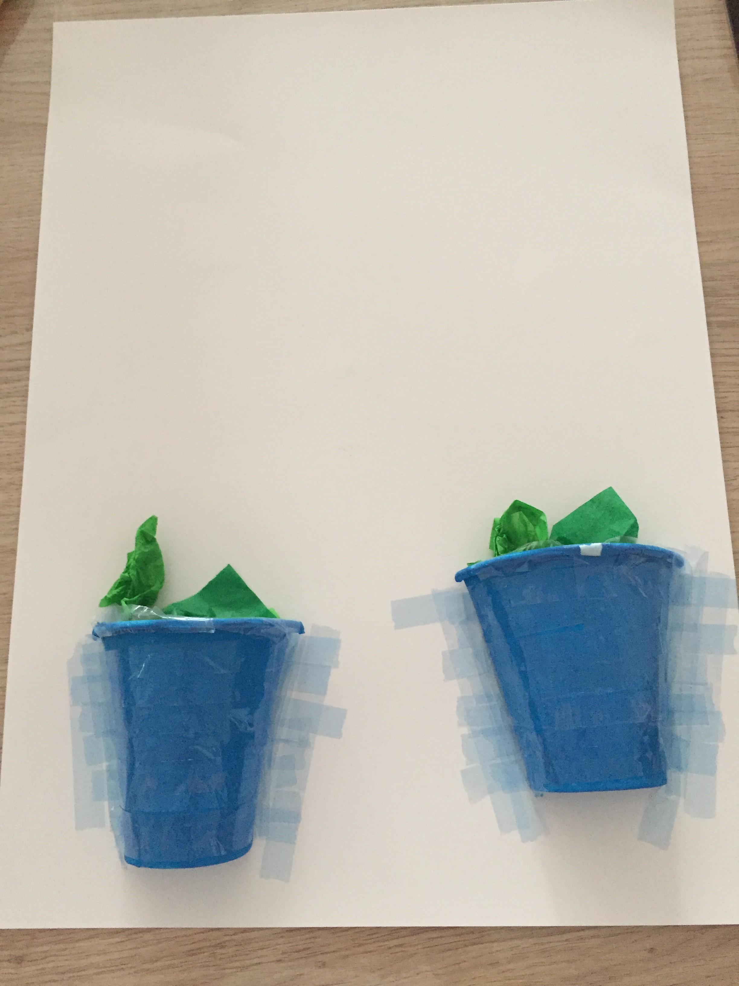 Pots de fleurs collage découpage activité peinture